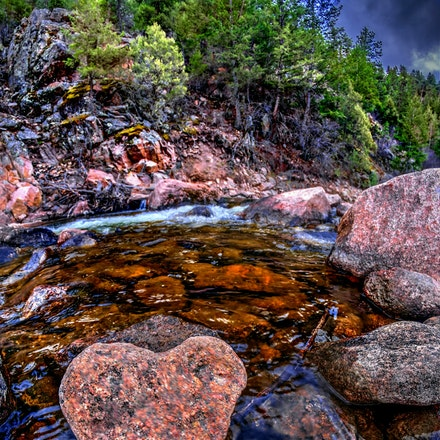 Heart on a Stream     4.20.2018.1 - Heart on a Stream. Love is everywhere, as evidenced by this heart-shaped rock found in a stream bed in the Colorado...