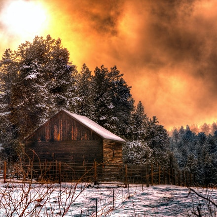 Smokey Mountain    4.21.2018.11 - Smokey Mountain. What appears to be a raging fire and smoke is thankfully a late winter sunset filtered through rain...
