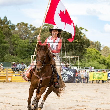 Katy Lucas Miss Rodeo Canada - Miss Katy Lucas on the handsome Mr Leo at the Warwick Rodeo & Campdraft 2015