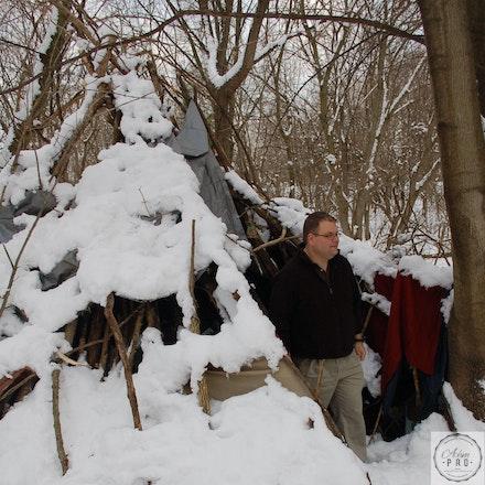 WV Senate Majority Leader John Unger - Martinsburg, WV, USA - Jan 29, 2011: WV State Majority Leader John Unger tours a homeless camp.