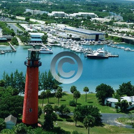 Jupiter Light 1996  3123a - jupiter lighthouse with Seasport marina