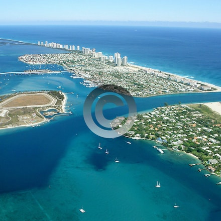 INLETS - AERIAL PHOTOS OF INLETS IN SOUTHEAST FLORIDA. For full image view, click on photo.