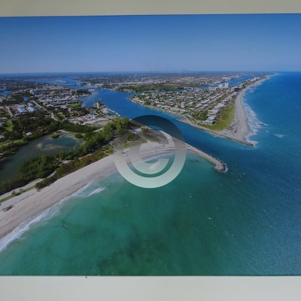 GALLERY CANVAS WRAP JUPITER INLET 113 30 X 40 - Recently installed these Canvas Wraps at First American Title in Jupiter!