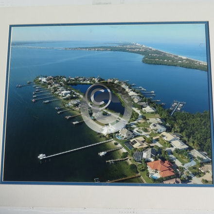 JOE'S POINT - This 16 x 20 Aerial is vacuum mounted, double matted and shrink wrapped.  Ready for a 20 x 24 frame!