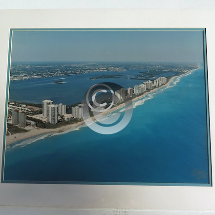 SINGER ISLAND  CONDOS  2357 - This 16 x 20 Aerial is vacuum mounted with double mats and shrink wrapped.  Ready for a 20 x 24 frame!