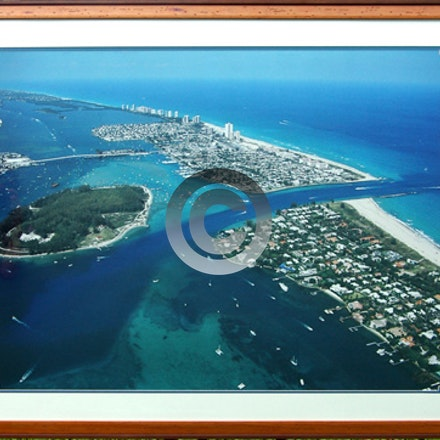 RUSTIC FRAMED PEANUT ISLAND - Our Frame shop can handle any request.