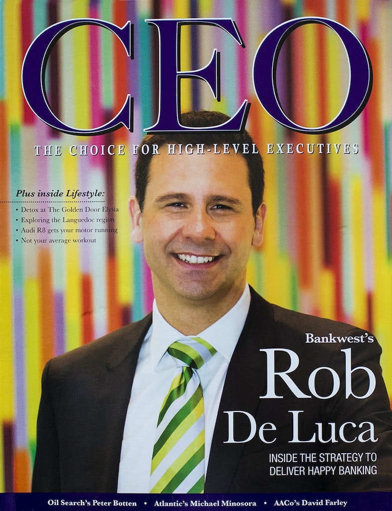 CEO Cover - Rob De Luca - Bankwest