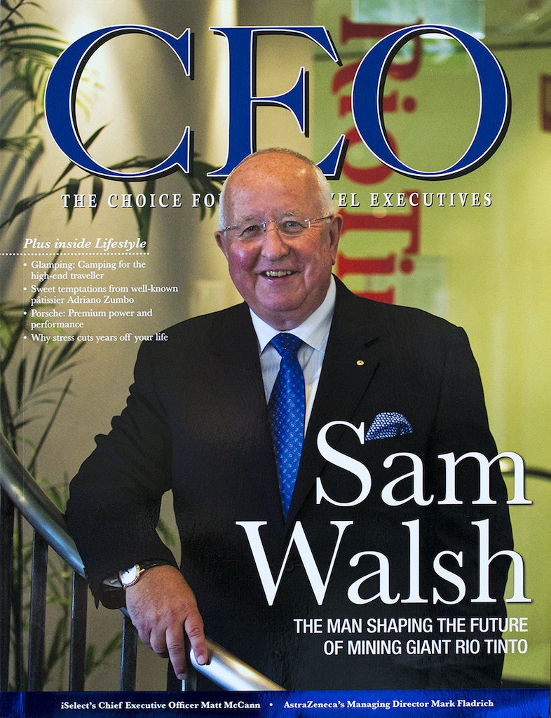 CEO Cover - Sam Walsh - Rio Tinto