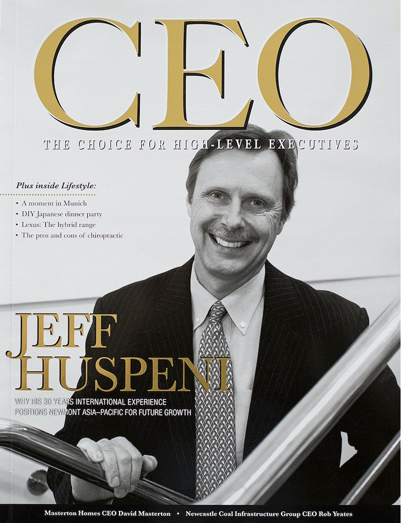 CEO Cover - Jeff Huspeni - Newmont
