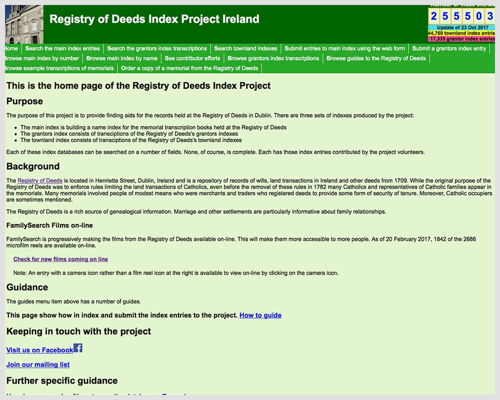 Registry of Deeds Index Project