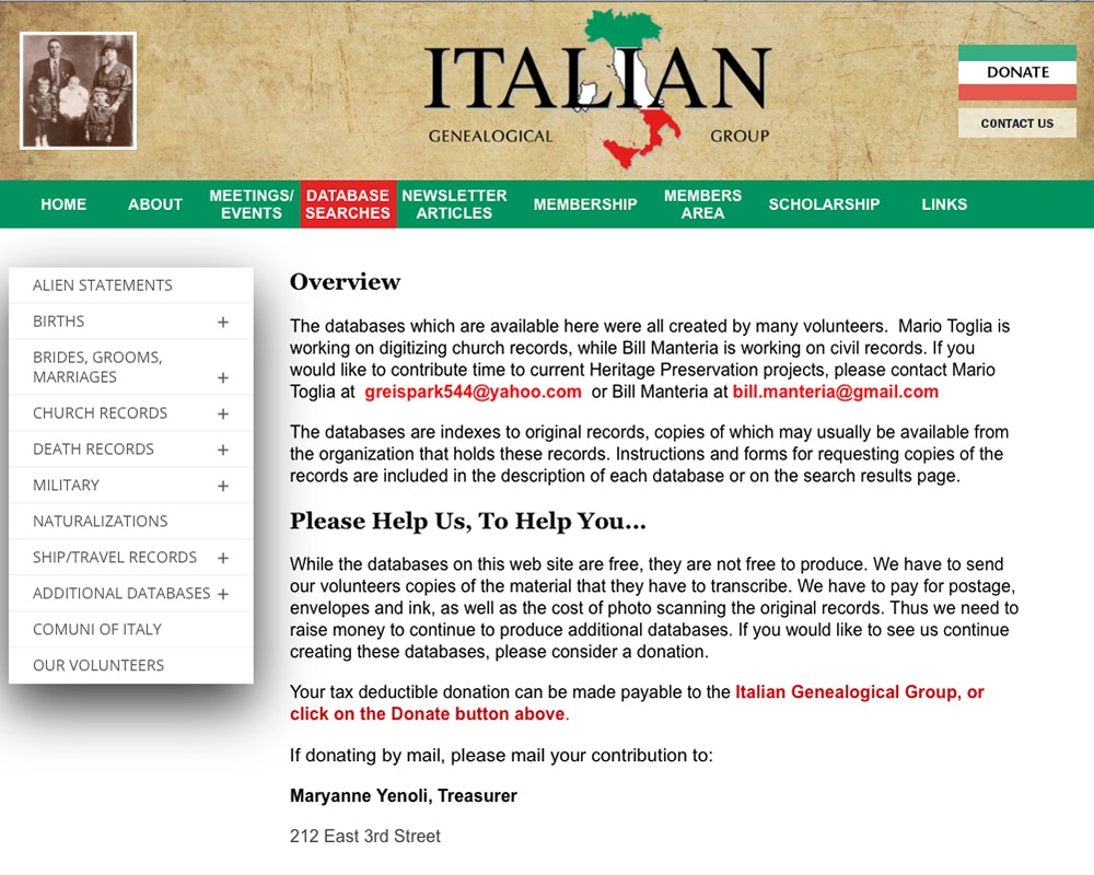 Italain Genealogical Group