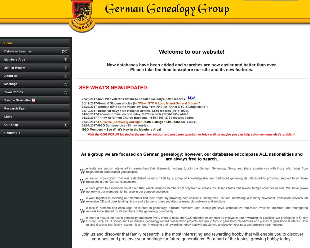 German Genealogy Group
