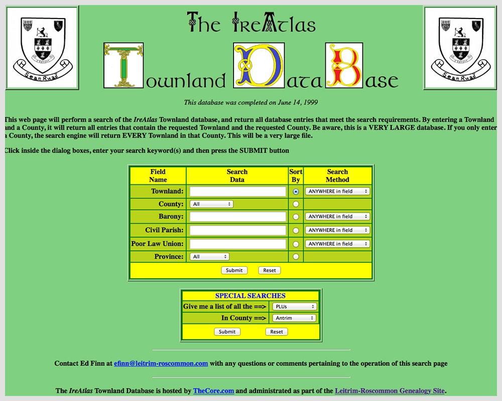 The IreAtlas Townland Database