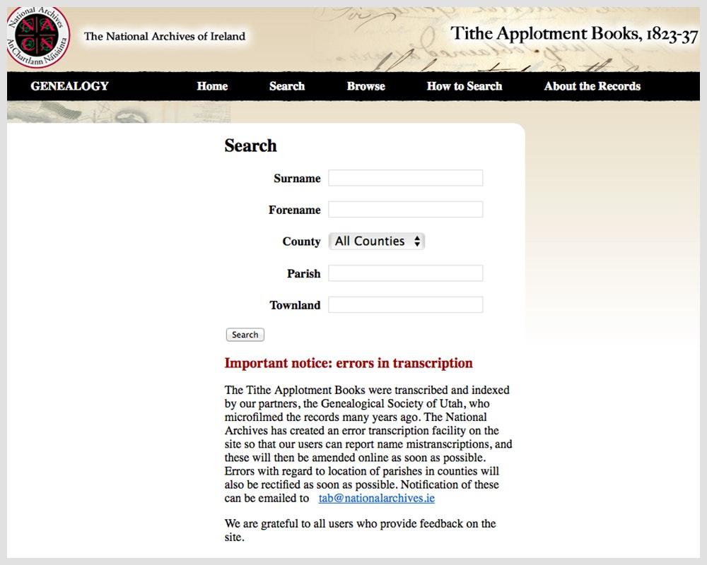 The Tithe Applotment Books