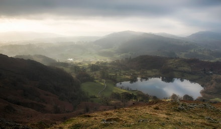 Loughrigg Tarn from the summit