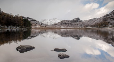 Reflections of snowy Pikes