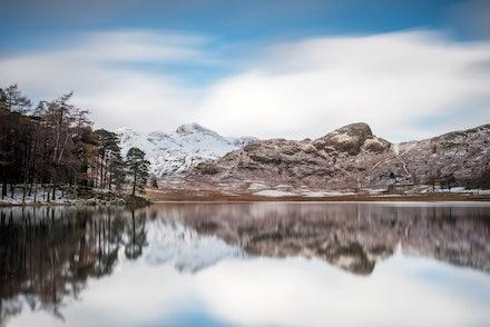 Snowy Pikes from Blea Tarn