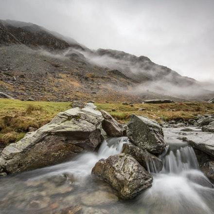 Clearing mist at Honister