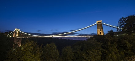Clifton Suspension Bridge night view
