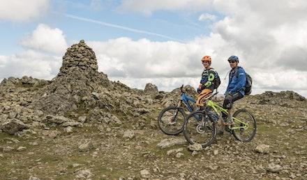 Mountain biking on Raise