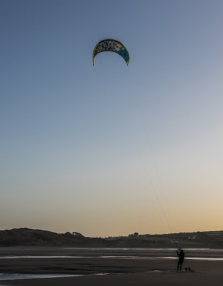 The moment the kite flew
