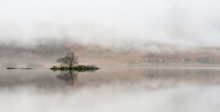 Clearing mist at Woodhouse island
