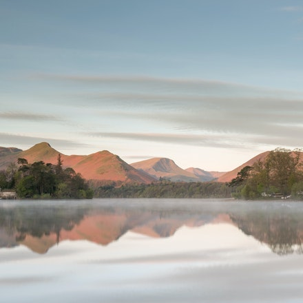 As the sun lights Catbells