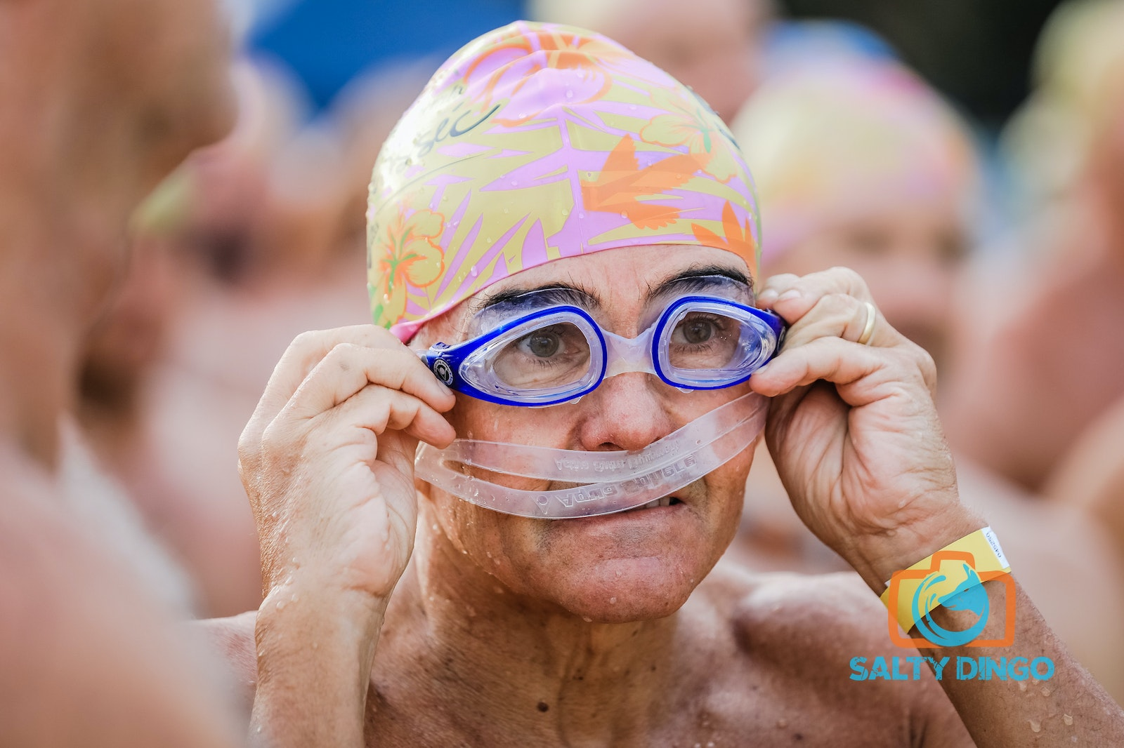 SMH Cole Classic © Salty Dingo 2017-8141 - 5th February 2017, Competitors line up for the 5km swim, The Sydney Morning Herald Cole Classic at Manly. Picture...
