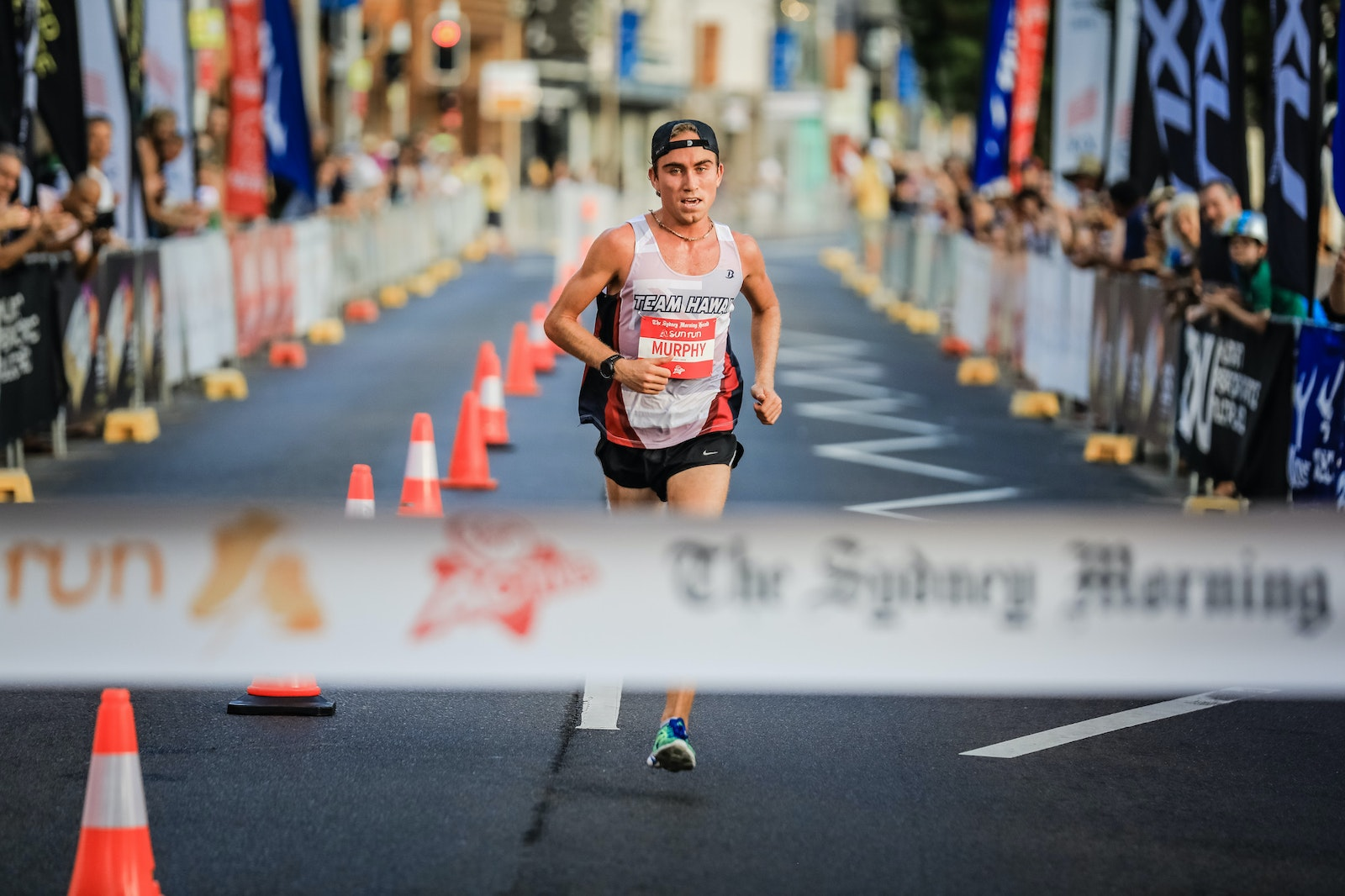 SMH Sun Run © Salty Dingo 2017-6884 - 4th February 2017, Pierce Murphy winner of 10km The Sydney Morning Herald Sun Run at Manly. Picture by Salty Dingo...