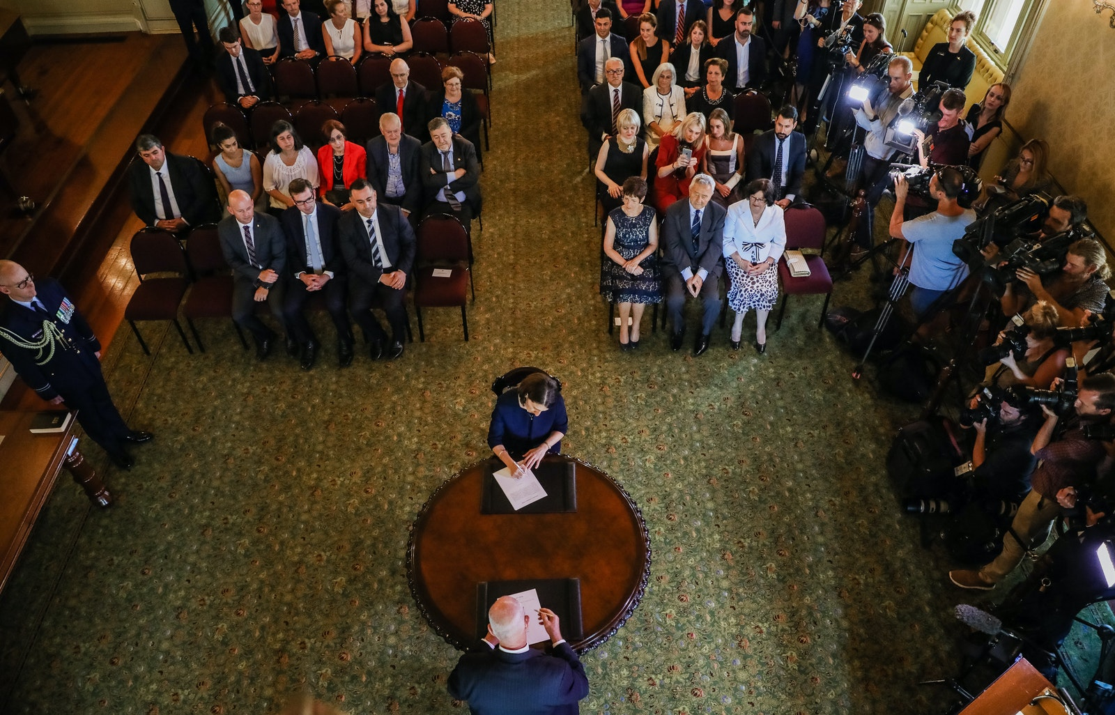 Swearing-in Ceremony - Swearing-in Ceremony for Premier and Deputy Premier at NSW Government House, Sydney. Picture Salty Dingo