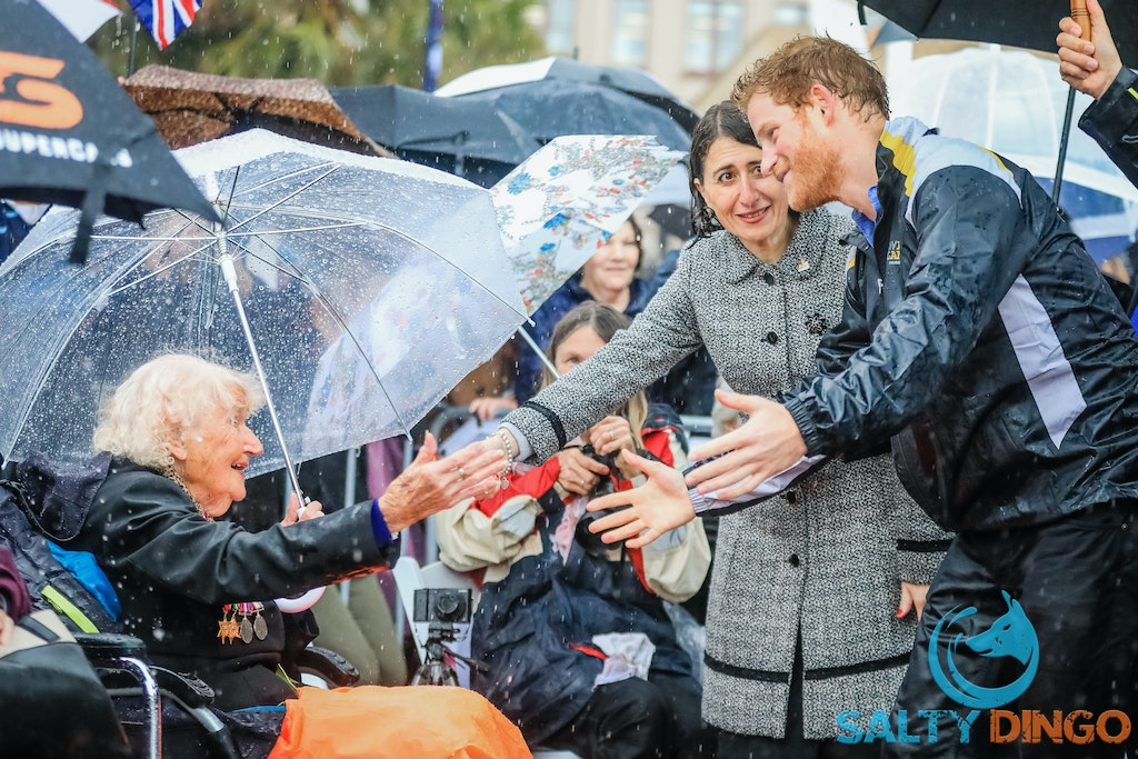 Prince Harry picture by Salty Dingo 2017-9739-2 - Prince Harry meets Premier Berejiklian and Minister Elliott during his Invictus Games tour of Sydney....
