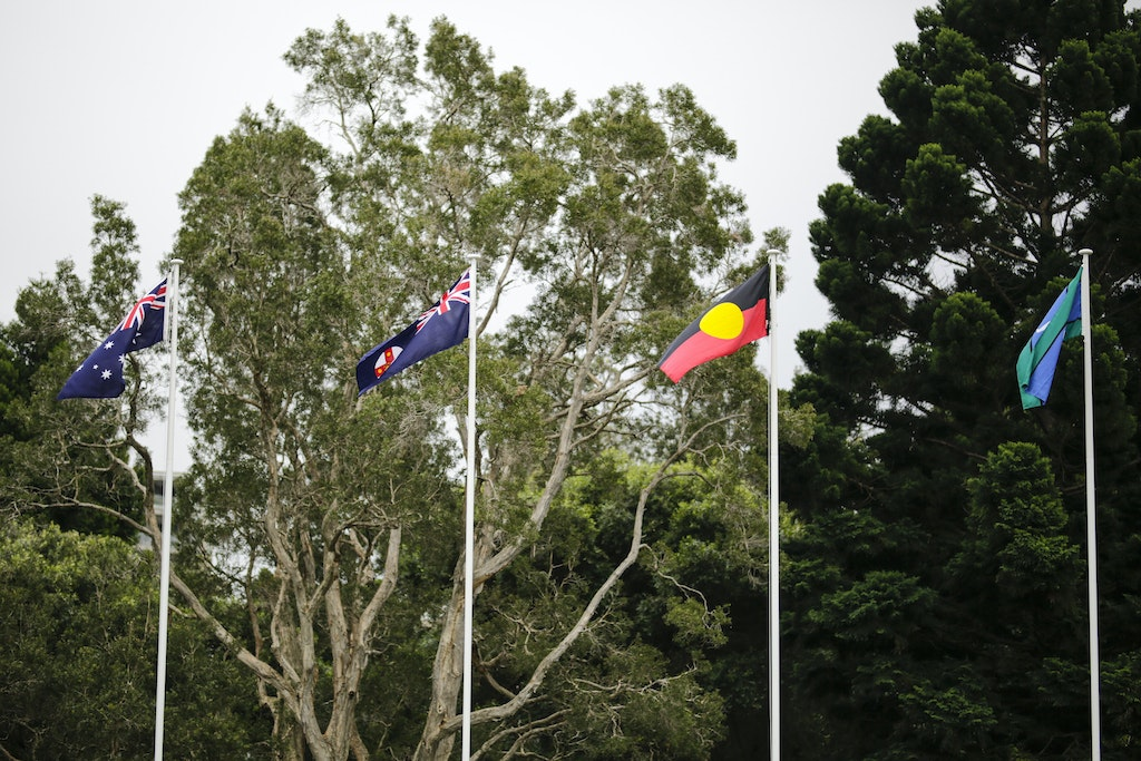 Flag Raising Ceremony Picture Salty Dingo 2017-22329 - Flag Raising Ceremony at Government House. Picture, Salty Dingo 2017
