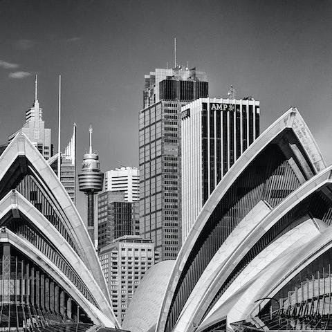 Sydney cbd panorama sydney cbd view shot from the manly ferry