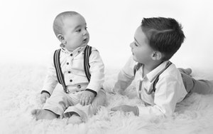 baby boy with brother
