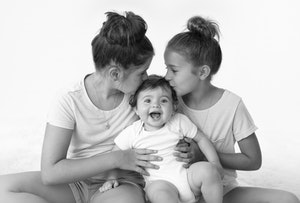 baby and sisters
