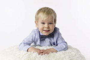 2 year old with bow tie