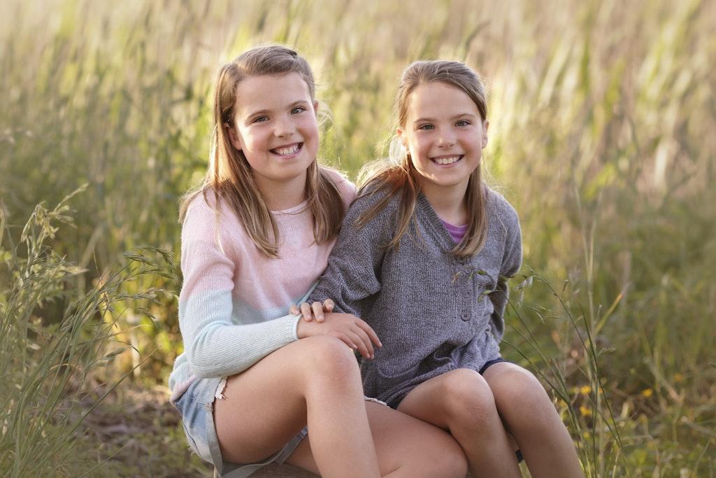 10 year old twin girls