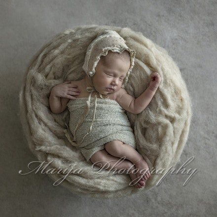 Ava Clinch newborn cream photo-©MarijaSullavan