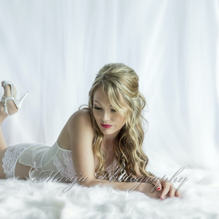 Millie in white boudoir