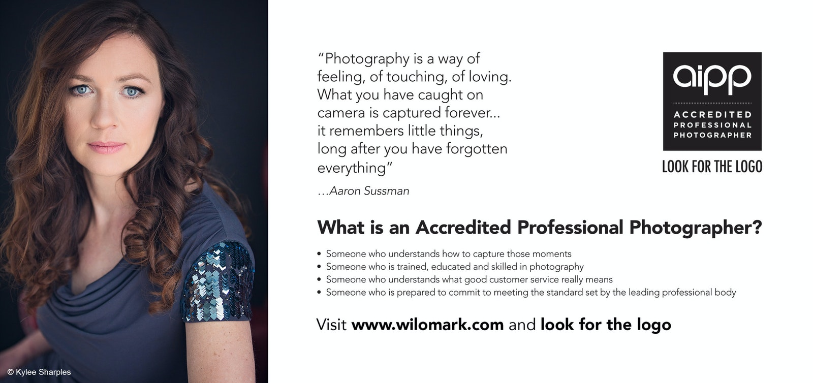 What is an accredited photographer graphic