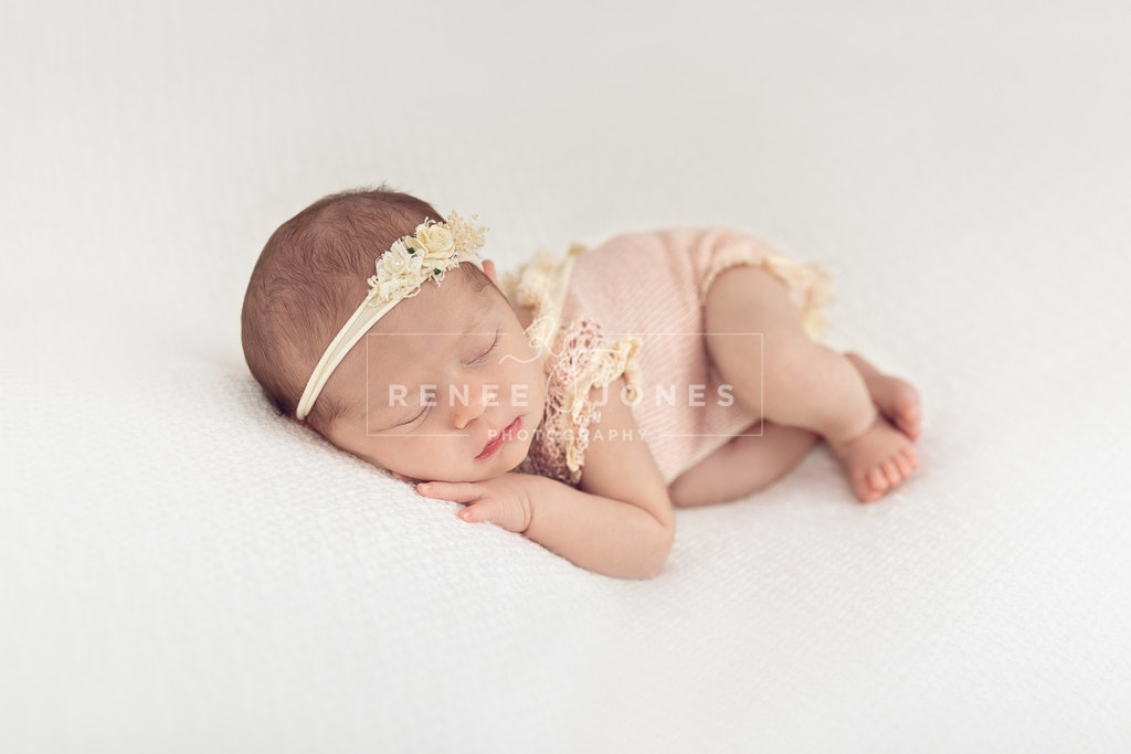 Pink newborn outfit - Brisbane Newborn Photographer - One of the many newborn baby outfits available during your photography session.
