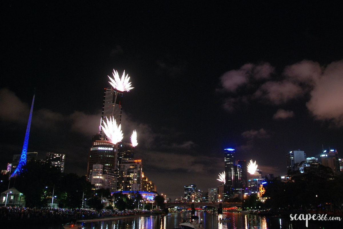 001 - New years fireworks in Melbourne