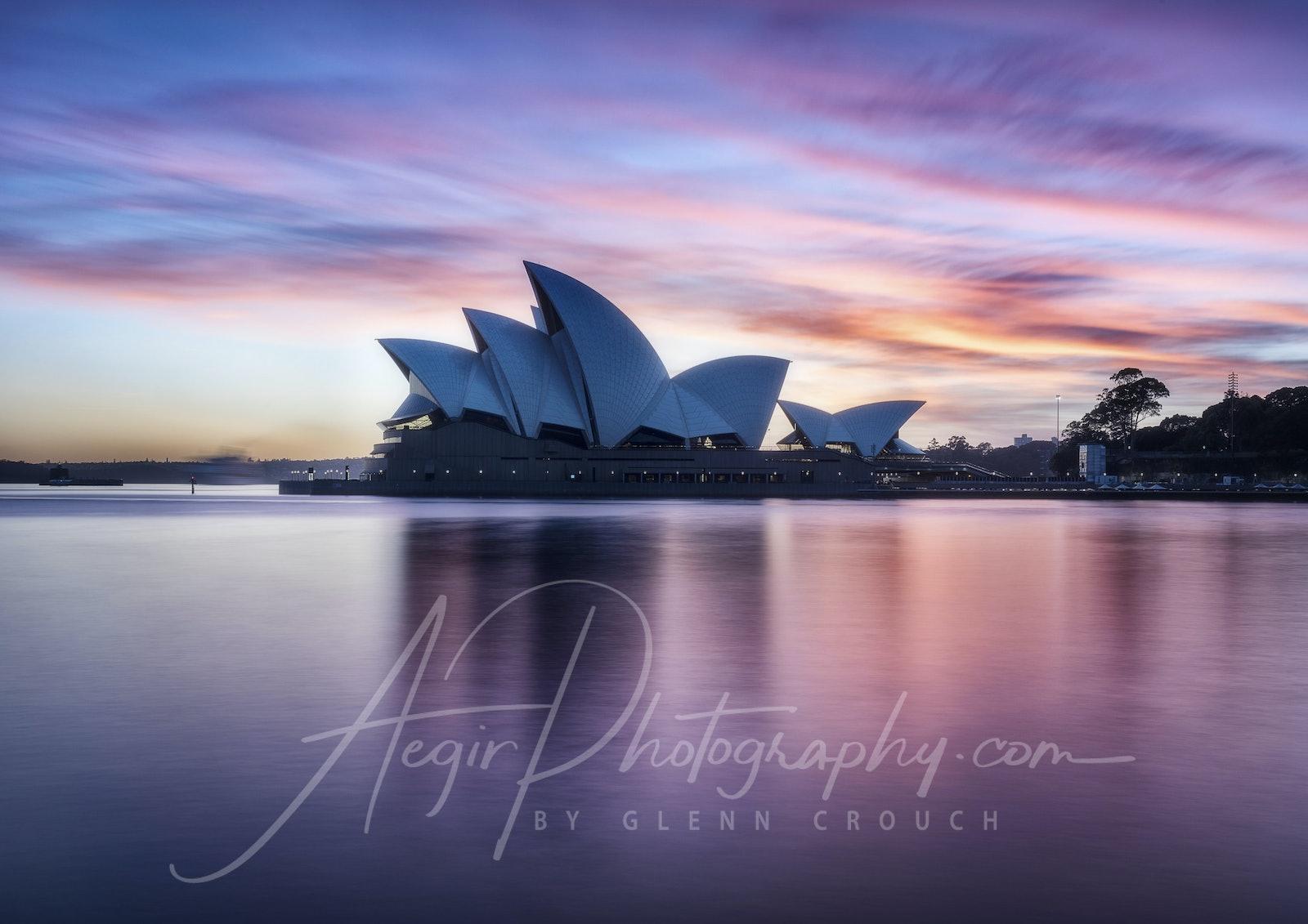 Opera House Dawn IV - Sunrise colour over the Sydney Opera House