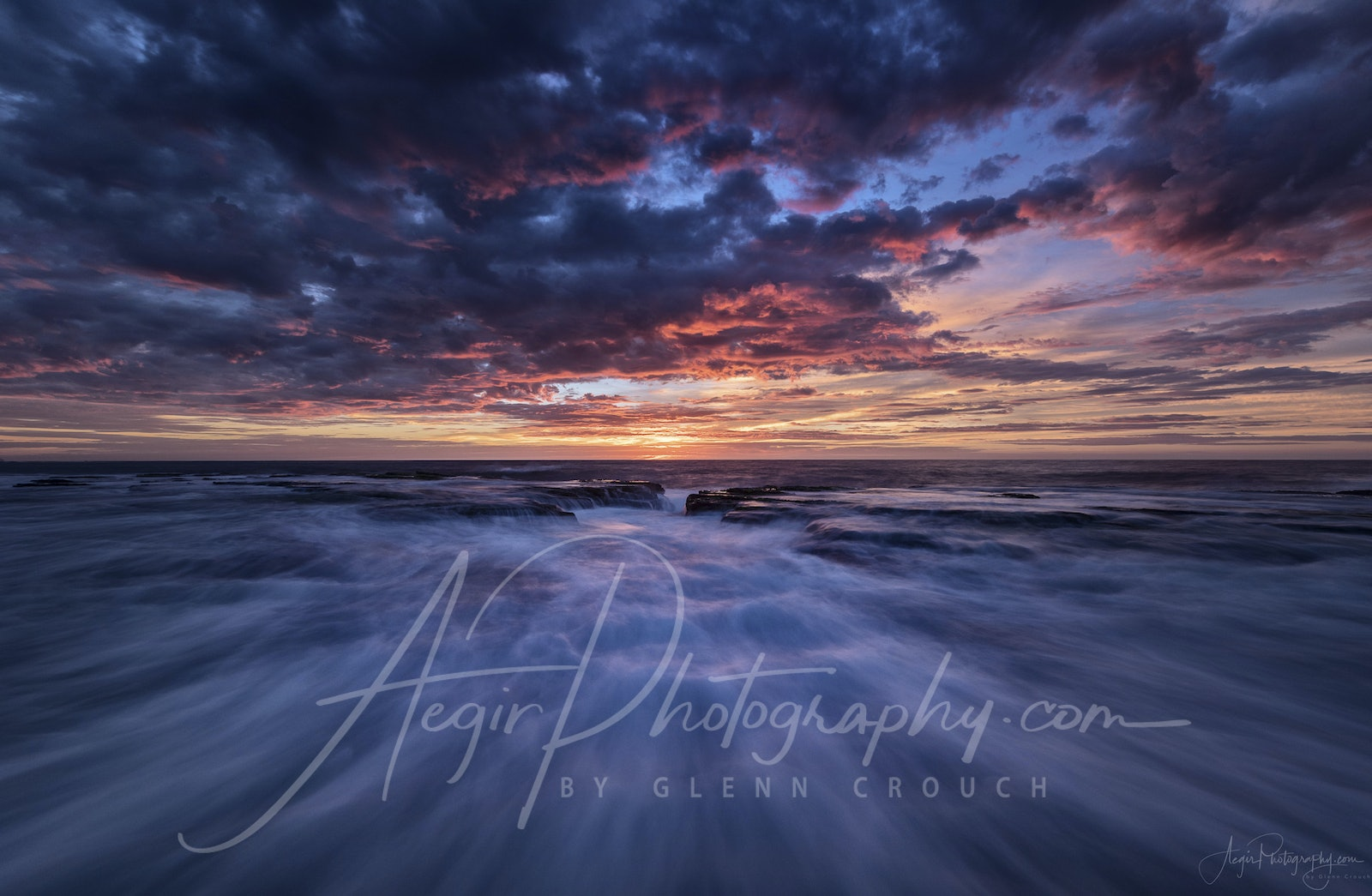 Rememberance - ANZAC Day 2017 sunrise over North Narrabeen pool, Sydney