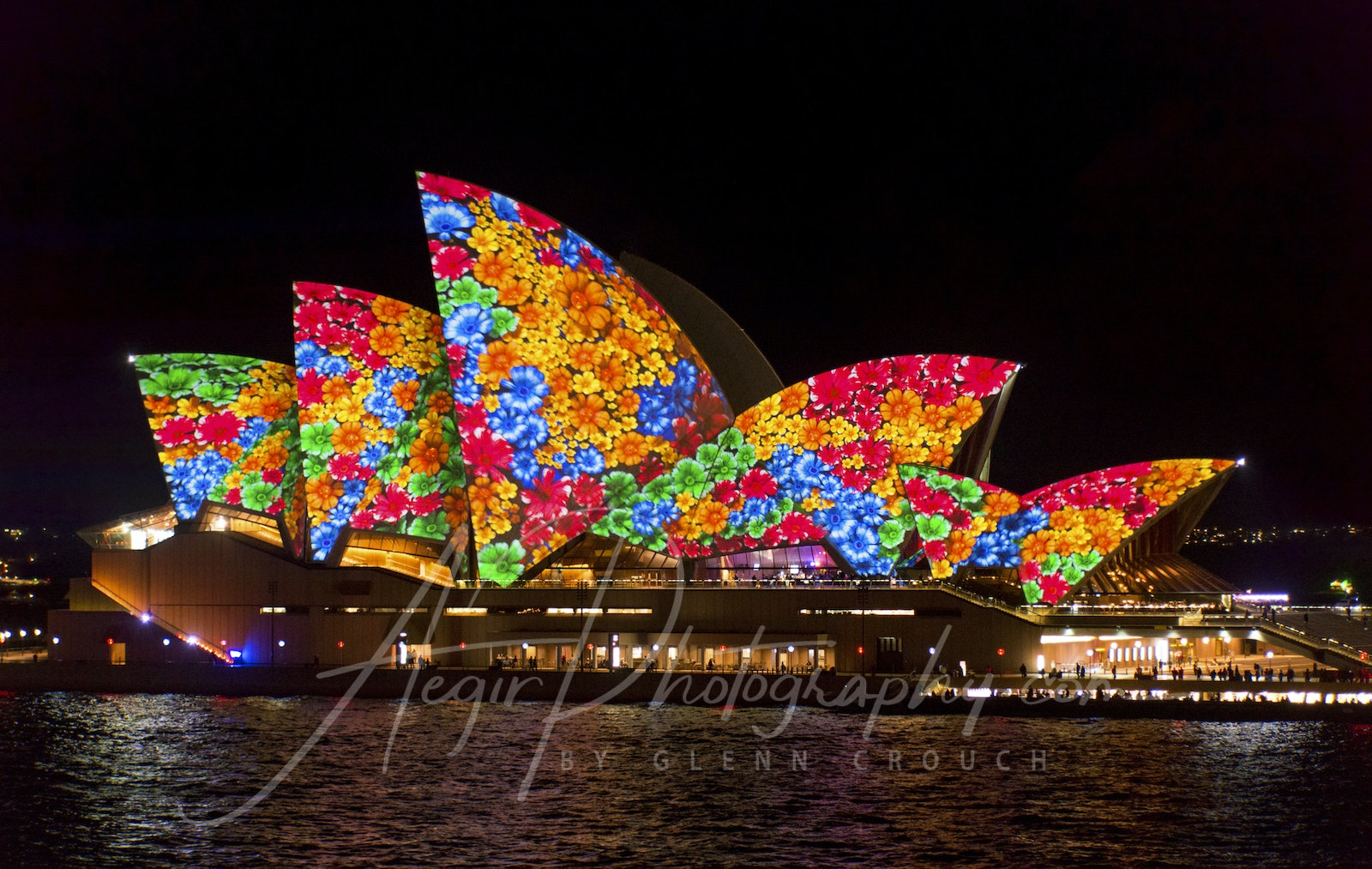 VIVID 2016 - Opera House - Lighting the Sails display during VIVID 2016, Sydney