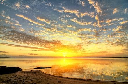 glassy sunrise - An amazing sunrise at the Lake Cootharabe