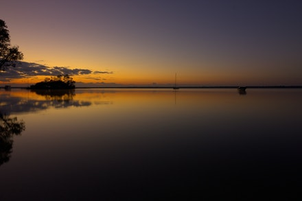 early sunrise - A beautiful sunrise at the Lake Cootharaba, Queensland