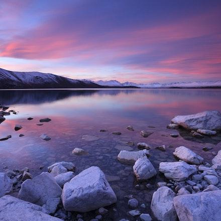 Twilight Colours Tekapo - Fleeting colours over lake Tekapo