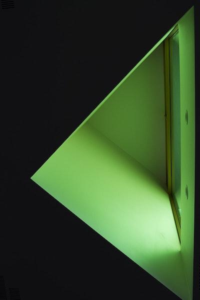Green Lit Window