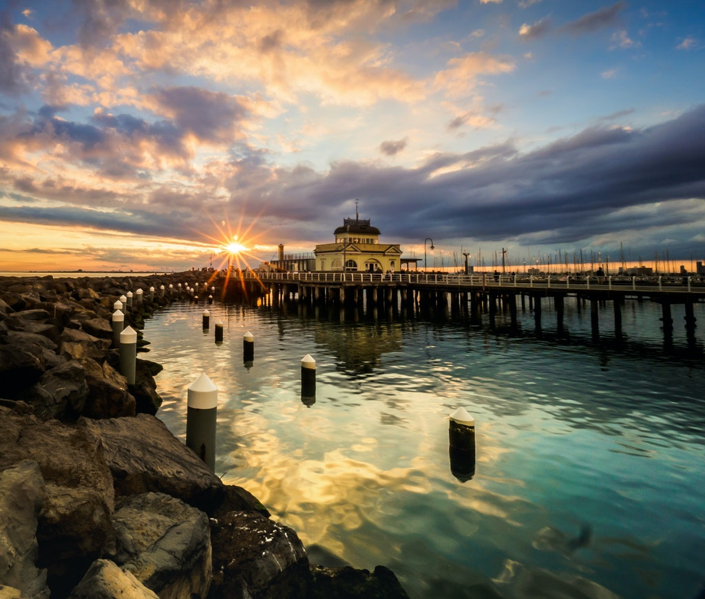 St Kilda Pier Sunset - This image was selected for the CEOs Award in the 2017 Heritage Bank Photographic Awards (https://www.heritage.com.au/photocomp)....